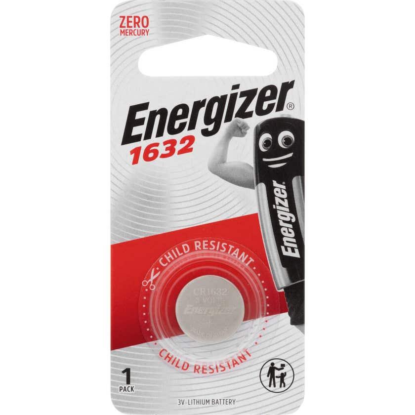 Energizer 1632 Lithium Battery 3V - 1 Pack