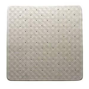 Supertex Rubber Shower Mat White 530 x 530mm