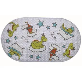 Supertex PVC Kids Printed Bath Mat Dinosaur