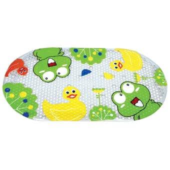 Supertex PVC Kids Bath Mat Printed Frog and Duck