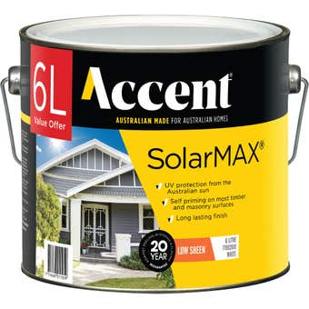 Accent SolarMAX Exterior Low Sheen White 6L
