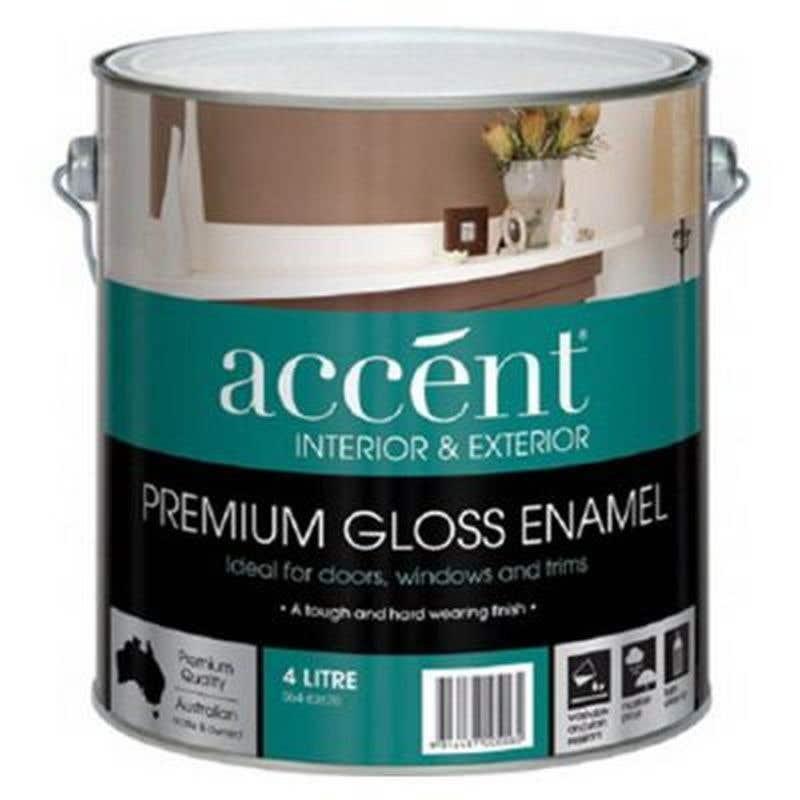 Accent Doors, Windows & Trims Oil Based Gloss White 4L