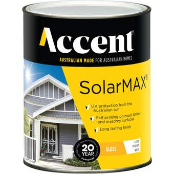 Accent SolarMAX Exterior Gloss White 1L