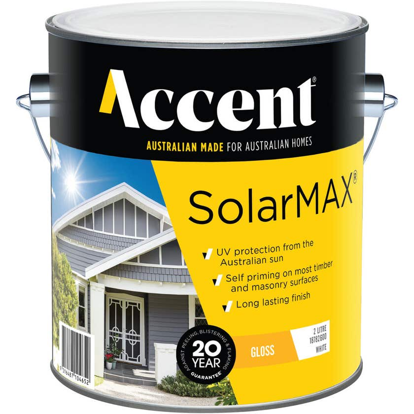 Accent SolarMAX Exterior Gloss White 2L