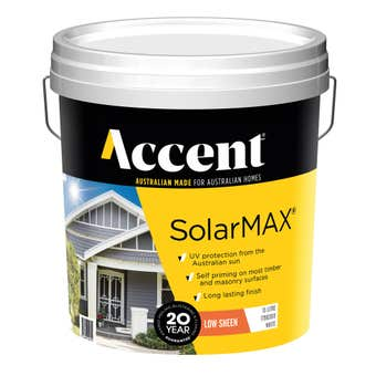 Accent SolarMAX Exterior Low Sheen White 15L