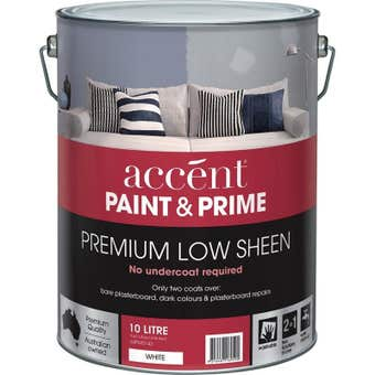 Accent Prime And Paint Interior Low Sheen White 10L