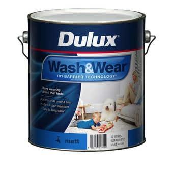 Dulux Wash & Wear Interior Matt Vivid White 4L
