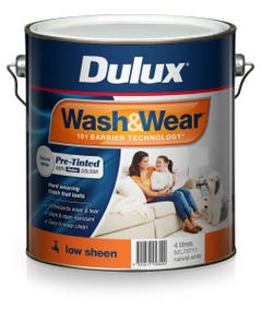 Dulux Wash & Wear Pre-Tinted Low Sheen 4L Natural White