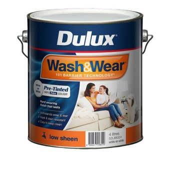 Dulux Wash & Wear Interior Low Sheen White On White 4L