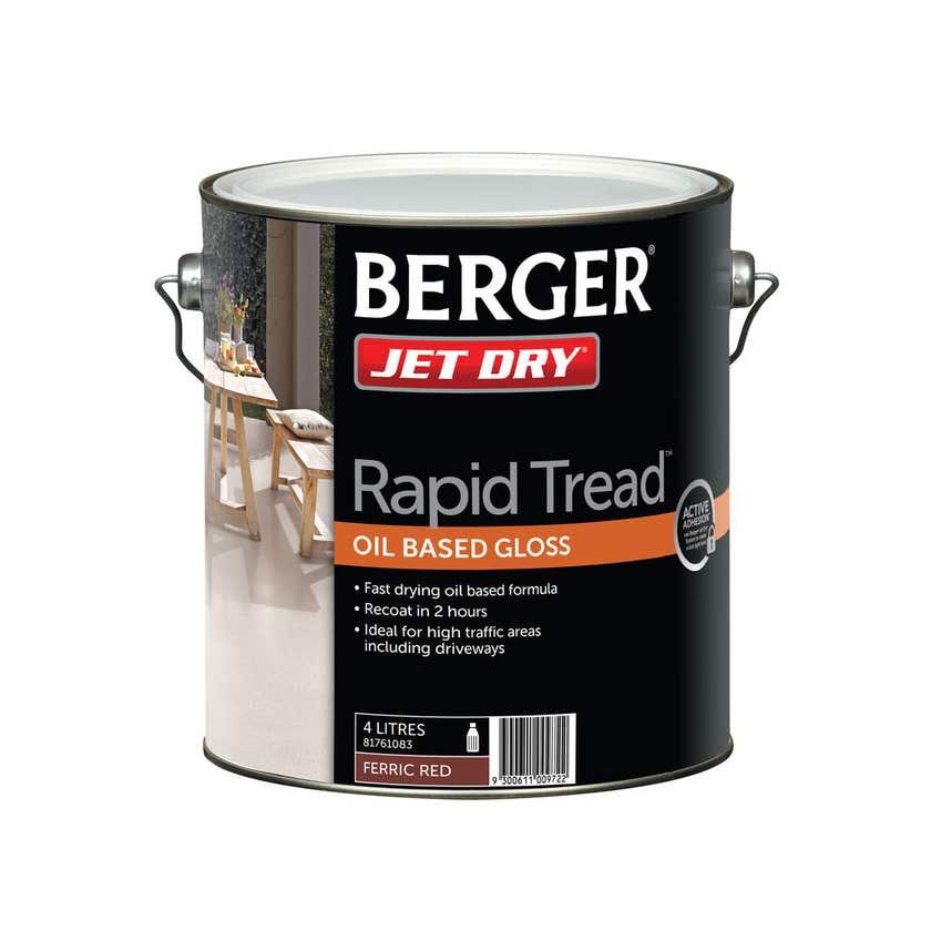 Berger Jetdry Heavy Duty Ferric Red 4L