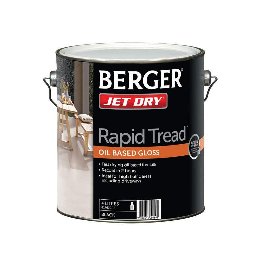 Berger Jet Dry Rapid Tread Black 4L