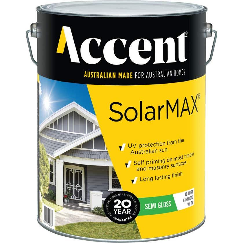 Accent SolarMAX Exterior Semi Gloss White 10L