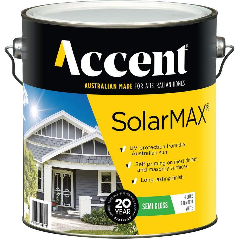 Accent SolarMAX Exterior Semi Gloss White 4L