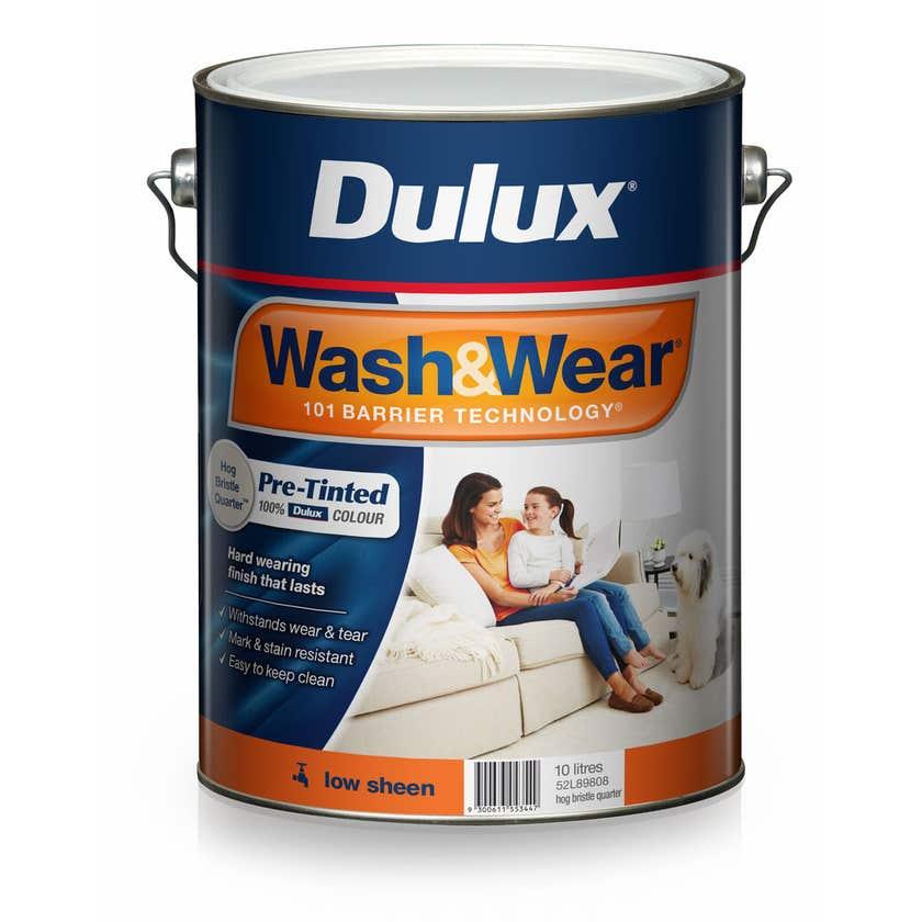 Dulux Wash & Wear Low Sheen Hog Bristle Quarter 10L