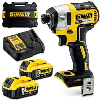 DeWALT 18V 5.0Ah XR Brushless Impact Driver Kit DCF887P2-XE