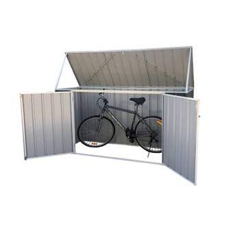 Earthcore Flat Roof Bike Shed 2.25 x 0.78 x 1.15m