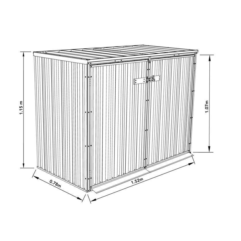 Earthcore Wheelie Bin Cover 1.52 x 0.78 x 1.15m
