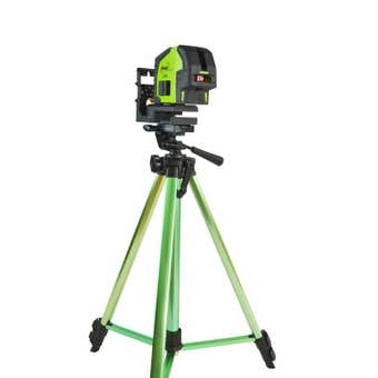 Imex Red Beam Crossliner Laser with tripod and staff