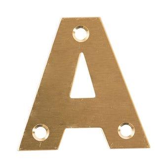 Sandleford Metro Letter Brass 50mm A