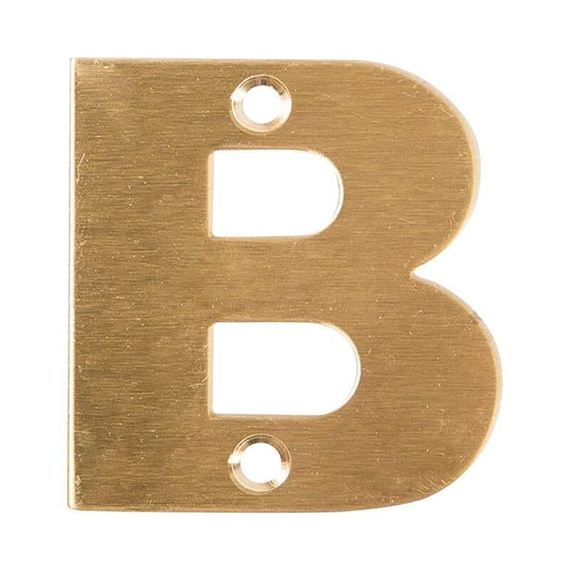 Sandleford Metro Letter Brass 50mm B