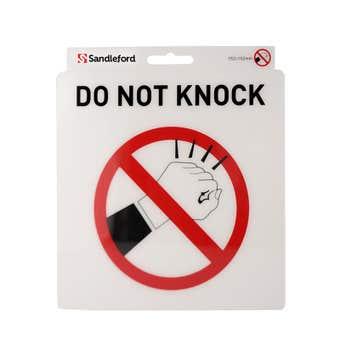 Sandleford Do Not Knock Self Adhesive Sign