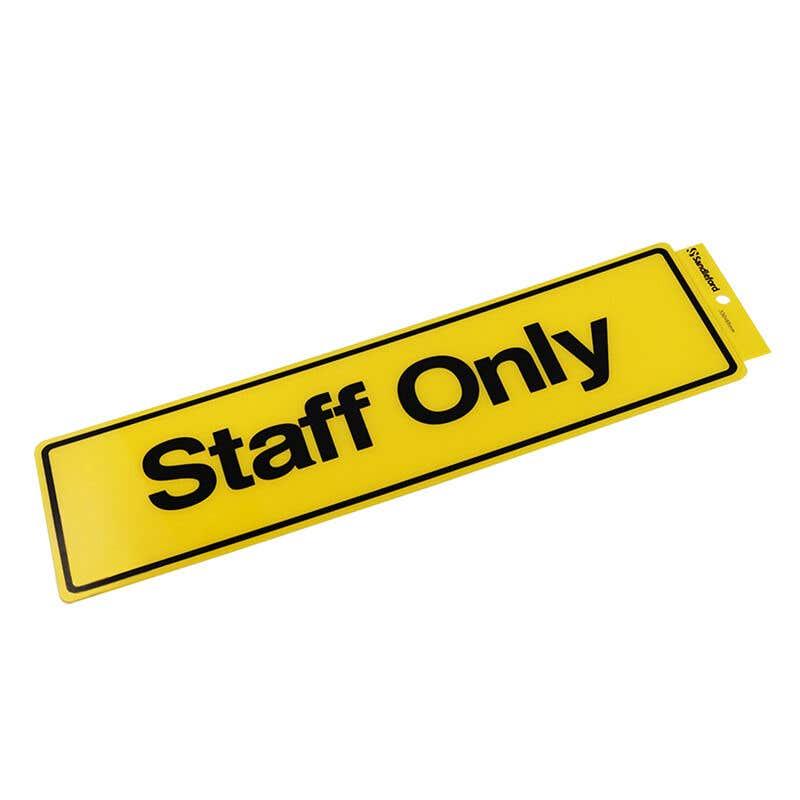 Sandleford Staff Only Self Adhesive Sign