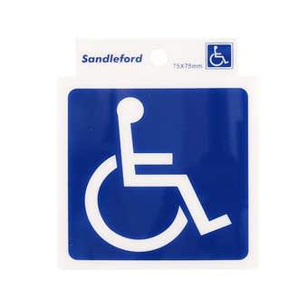 Sandleford Disabled Symbol Self Adhesive Sign