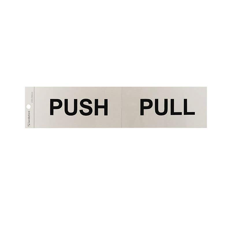 Sandleford Push/Pull Self Adhesive Sign