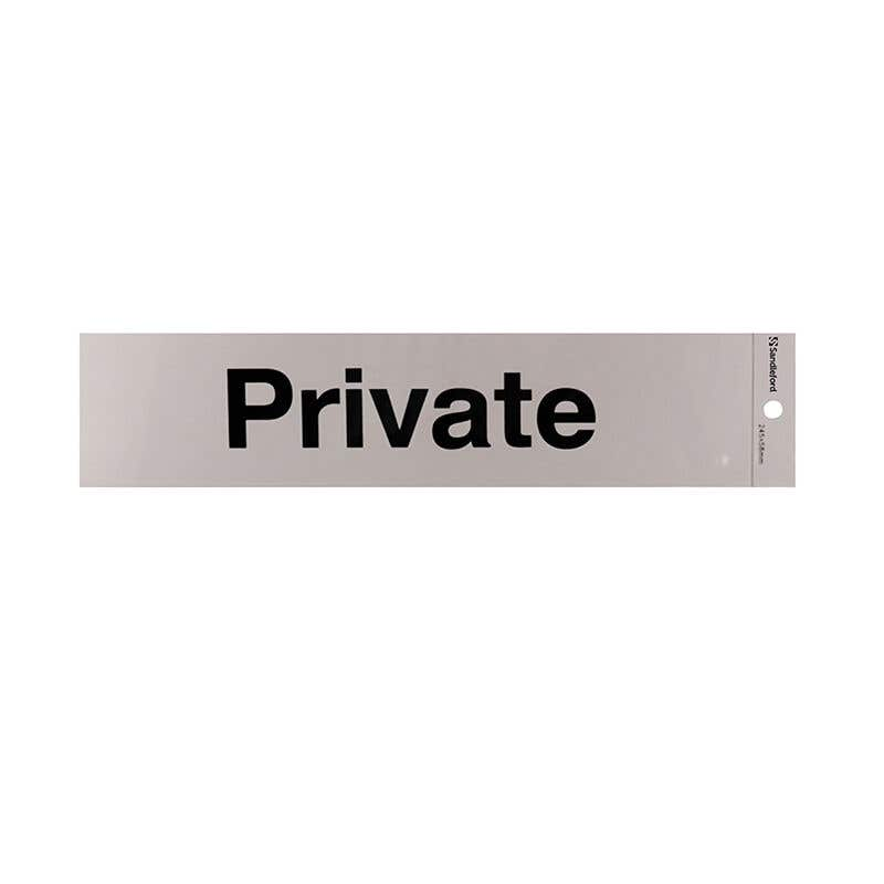 Sandleford Private Self Adhesive Sign