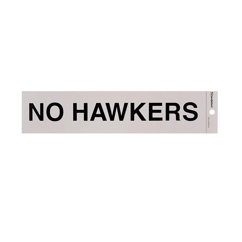 Sandleford No Hawkers Self Adhesive Sign