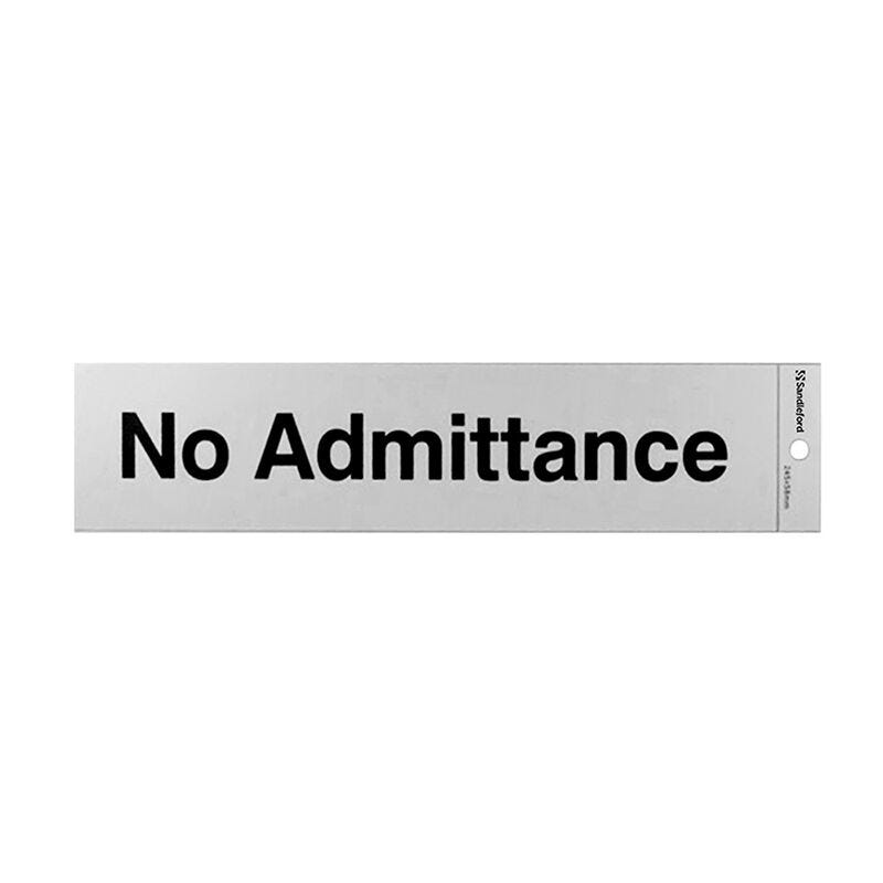 Sandleford No Admittance Self Adhesive Sign