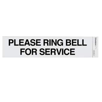 Sandleford Please Ring Bell For Service Self Adhesive Sign