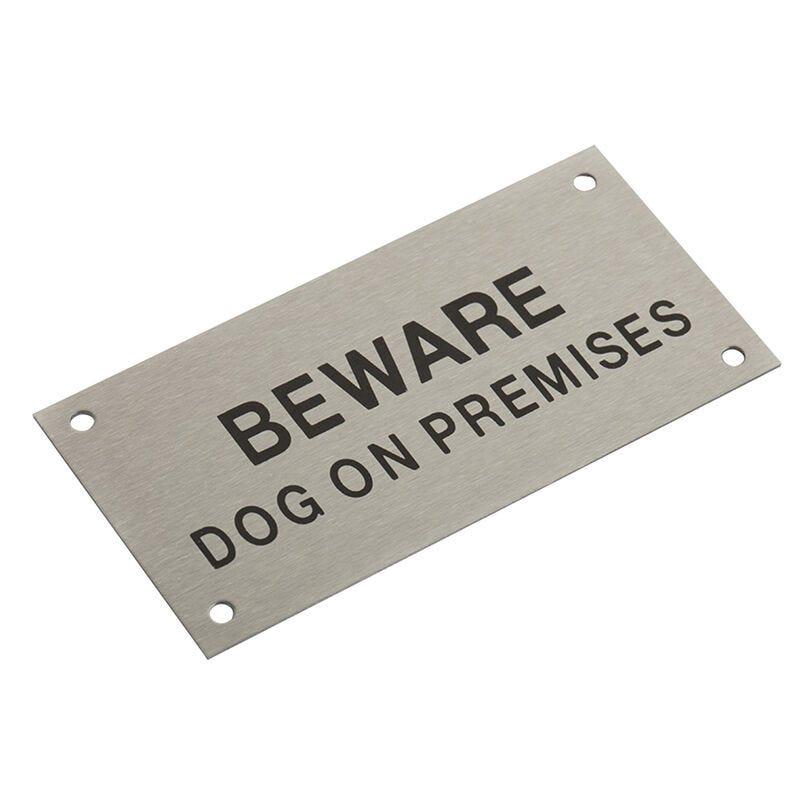 Sandleford Beware Dog On Premises Sign Stainless Steel
