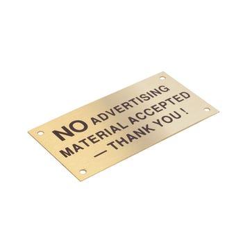 Sandleford No Advertising Material Sign