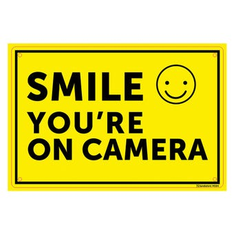 "Sandleford ""Smile You're On Camera"" Sign 300 x 225mm"