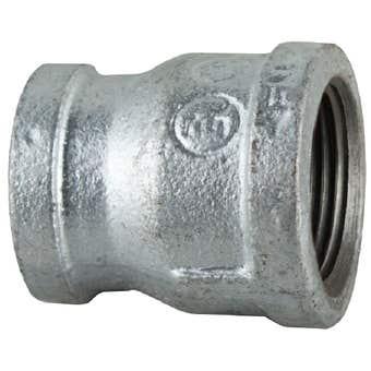 Brasshards Socket Reducing Galvanised 20mm x 15mm