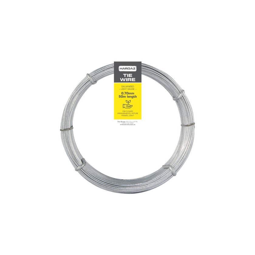 Trio Hardaz Tie Wire Dispenser Pack Galvanised 0.70mm x 50m
