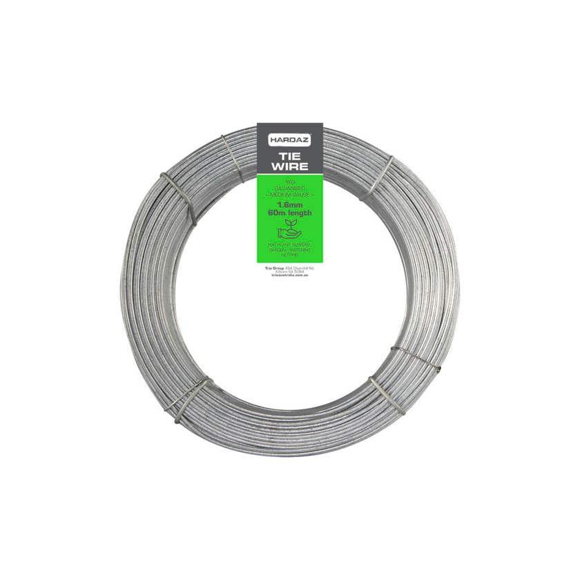 Trio Hardaz Tie Wire Dispenser Pack Galvanised 1.60mm x 60m
