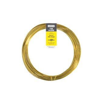 Trio Hardaz Brass Tie Wire 0.6mm x 18m