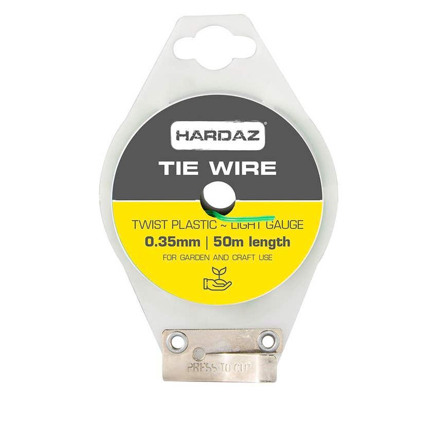 Trio Hardaz PVC Tie Wire Green 2.5mm x 50m
