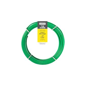 Trio Hardaz PVC Tie Wire Green 0.9mm x 20m