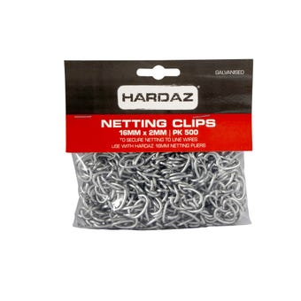 Trio Hardaz Netting Clips 16 x 2mm - 500 Pack