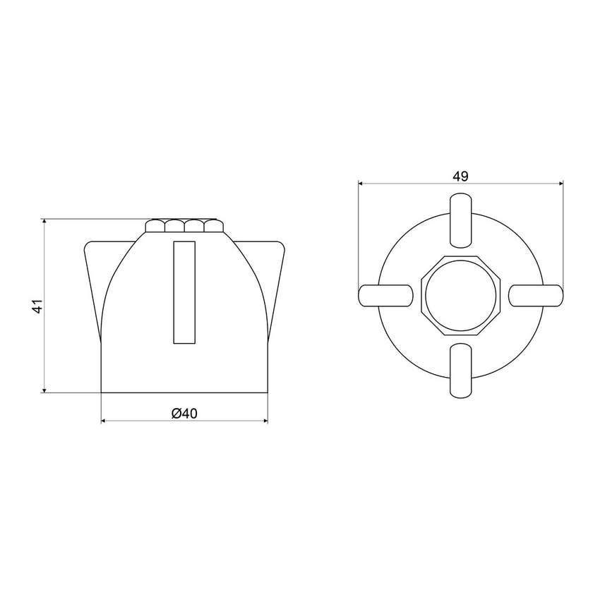 Mildon Series 2000 Style Universal Handles & Buttons Chrome