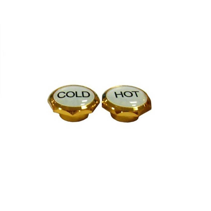 Mildon Standard Tap Handle Button Hot & Cold Gold