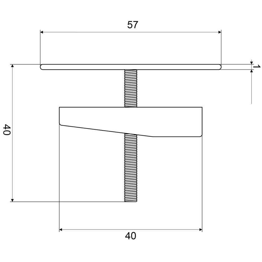 Mildon Basin Button Stainless Steel White