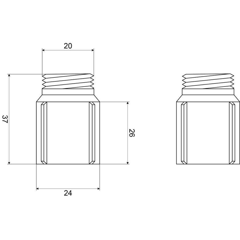 Mildon Heat Barrier Brass - Suits Wall Bells Pair