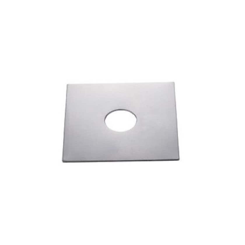 Mildon Cover Plate Square Flat - Chrome
