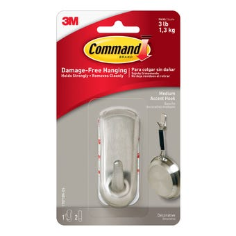 Command Adhesive Accent Wall Hook Medium - 1 Pack