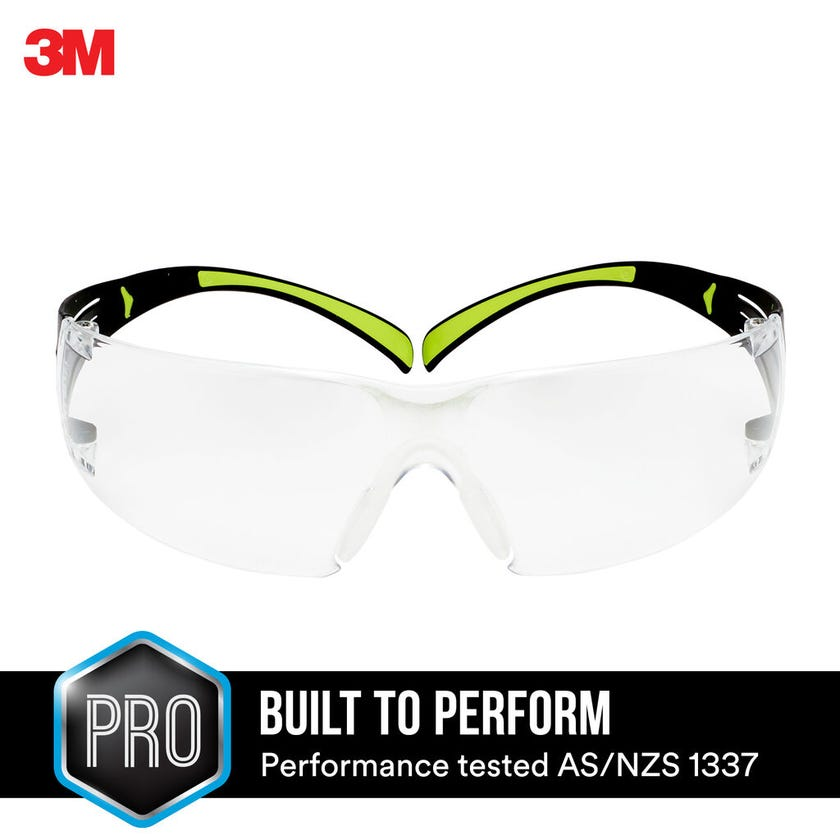 3M SecureFit 400 Series Safety Glasses Clear