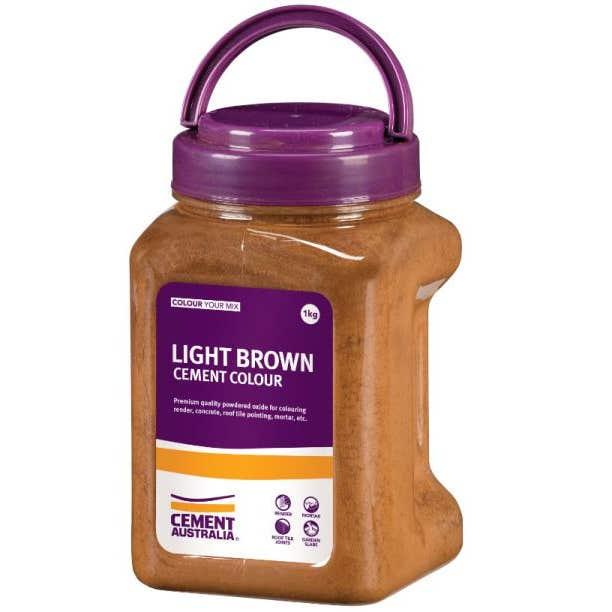 Cement Australia Oxide Colouring Light Brown 1kg